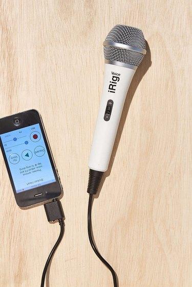Create a fun and entertaining karaoke night at home with the iRig karaoke microphone.