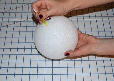 "Step 1- Pierce 6""  Foam Ball"