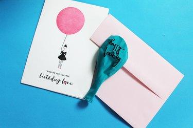 Send a latex balloon message