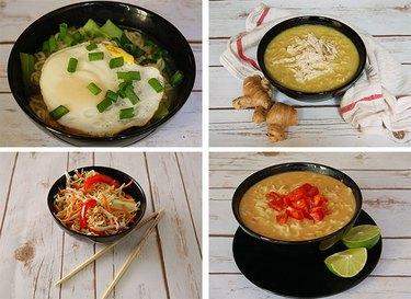 4 bowls of soup