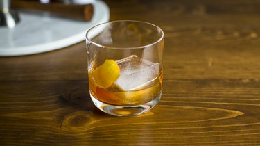 A freshly mixed Old Fashioned cocktail