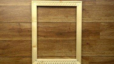 Finished DIY simple frame loom.