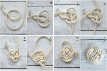 intricate 'clover' knot instructions