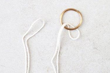 Start a larkshead knot