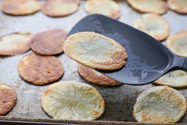 Flipping the potato chips