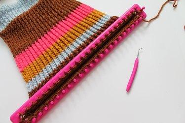 Finished knitting.