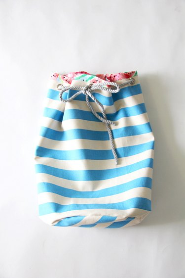 how to sew a drawstring bag with free pattern