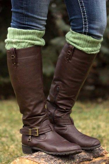 Finished boot socks