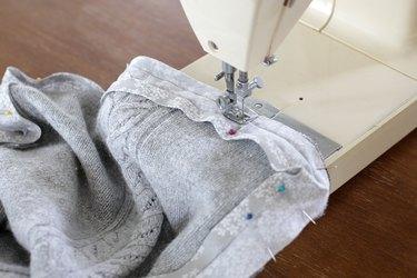 sew along first fold line