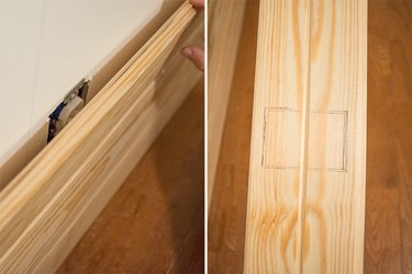 Use a jigsaw to cut around an outlet.