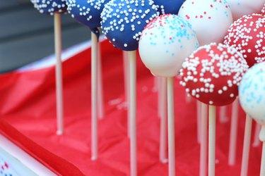 arranged cake pops