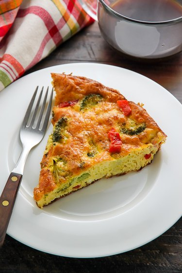 Broccoli Cheddar Frittata ready to be served.