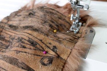 sew around the raw edges