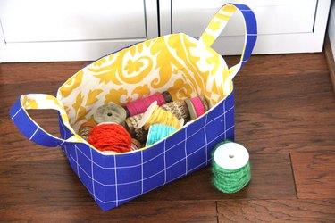 Download and make this free sewing basket pattern