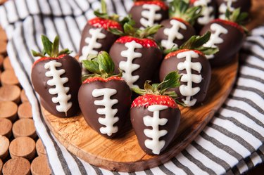 How to Make Chocolate Covered Strawberry Footballs