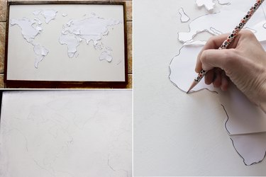 Tracing outline of map