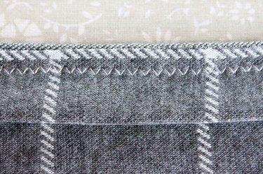 View of zig zag stitch