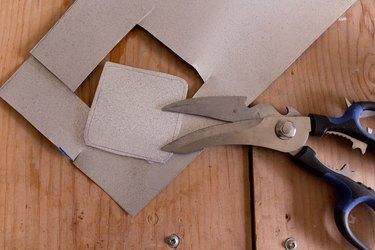 Cut shape out of aluminum sheet