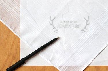 put design under the handkerchief