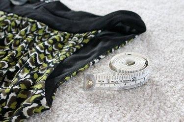 Measure the armhole on the dress