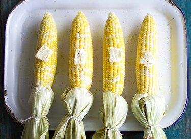Baked Moist Corn on the Cob