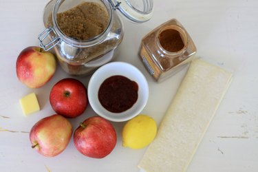 ingredients for rose apple pies