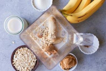 Shake ingredients in a blender