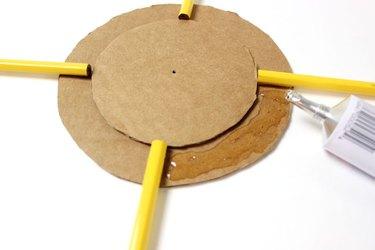 Glue Pencils on Cardboard