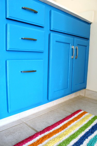 How to Refresh Oak Bathroom Cabinets with Paint