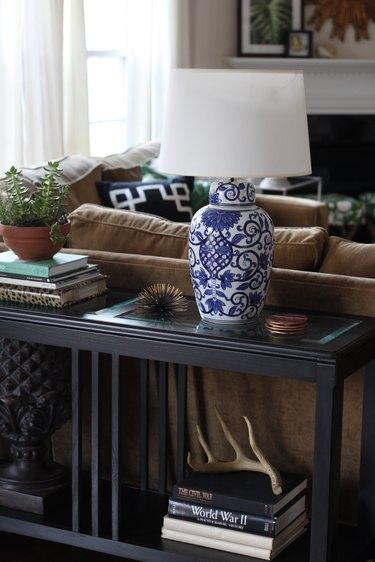 DIY ginger jar lamp