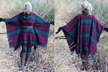 finished blanket coat