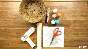 Materials for DIY Desert-Style Baskets.