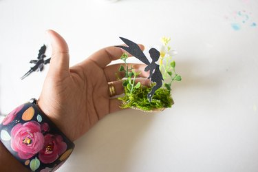 Hot glue silhouette of fairy