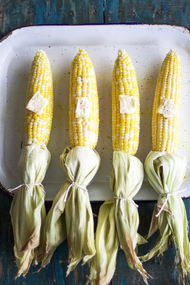 Buttered and Baked Corn