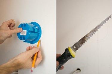 Cut the drywall