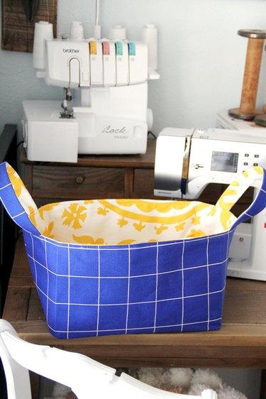 Free fabric basket sewing pattern