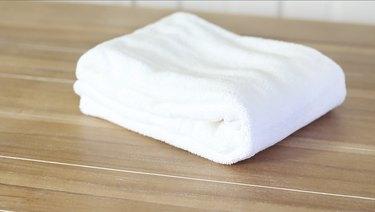 Hotel-style folded towel