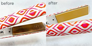 easy way to clean curling irons and flat irons