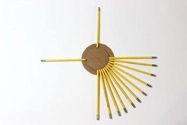 Arranging Pencils for Wreath