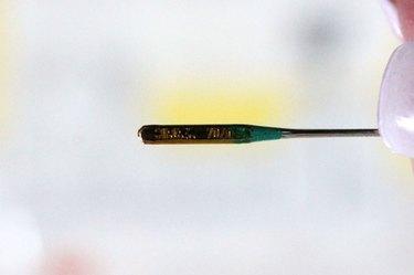 flat side of sewing machine needle
