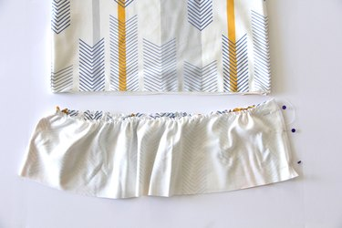 Sew ruffle together at side seams