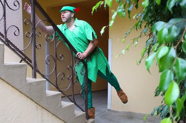Fly high in this Peter Pan costume.