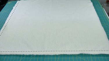 Stitch the length and width of the rectangle.