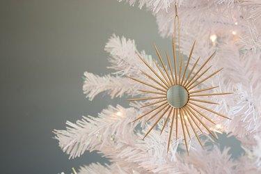 DIY Miniature Sunburst Mirror Ornament