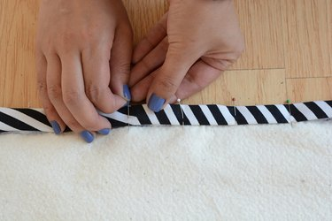 Pin the fold.
