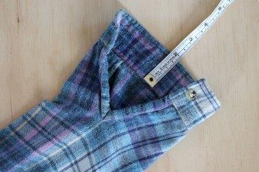 measure sleeve placket