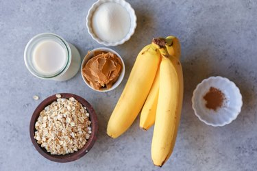 Ingredients for a protein shake