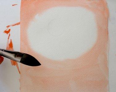 Paint the paper base orange