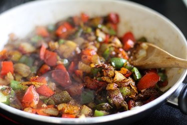 Sauteed vegetables with seasoning