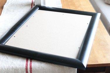 Optional: framing the tea towel.